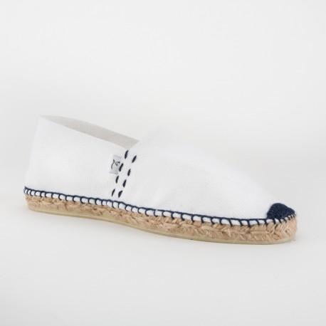 Voie Lactée – Espadrille blanche couture marine