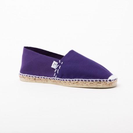 Perse - Espadrille violette à fil blanc