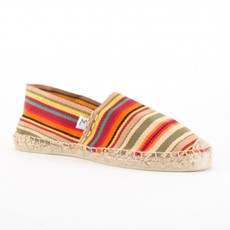 ALAMAK - Espadrille rayée orange