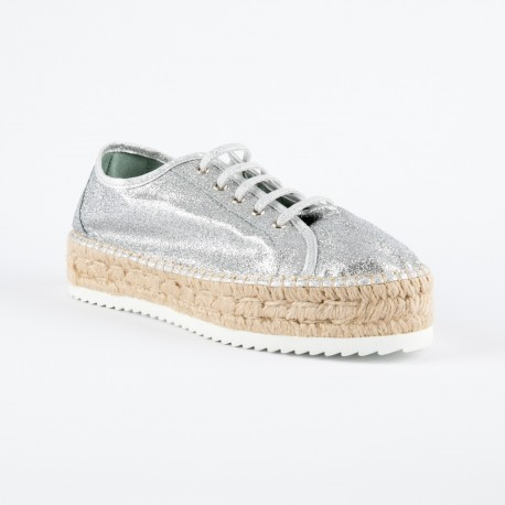 PHENIX -  espadrille type tennis à paillettes