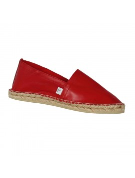 CONSTELLATION – Espadrille en cuir rouge